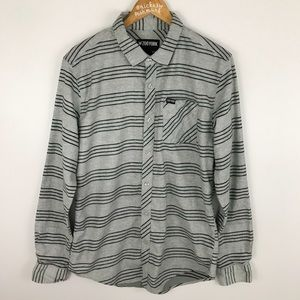 Men's Zoo York Flannel Style Gray And Black Shirt